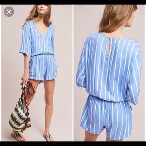 Anthropologie Beachgold Ancona Striped Romper